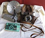 Voigtlander Vito Automatic 35mm Film Camera with Flash Gun and Case
