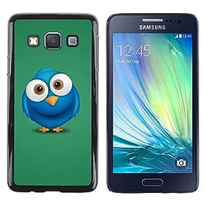 Be Good Phone Accessory // Dura Cáscara cubierta Protectora Caso Carcasa Funda de Protección para Samsung Galaxy A3 SM-A300 // Cute Big Eye Blue Bird