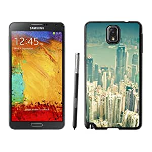 NEW Unique Custom Designed Samsung Galaxy Note 3 N900A N900V N900P N900T Phone Case With Hong Kong City Overview_Black Phone Case