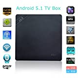 i68 TV Box, Crazy Box RK3368 Octa Core 2G/8G Android 5.1 TV Box Pre-installed Kodi Box Dual Wifi Full Format H.264/H.265 4K HD Mini PC OTT Box