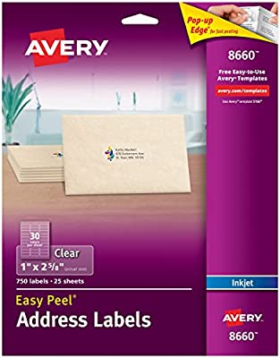 Amazon Avery Matte Frosted Clear Address Labels For Inkjet