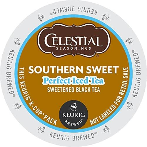 Keurig, Celestial Seasonings, Southern Sweet Perfect Iced Tea, K-Cup packs, 30 Count (Packaging may vary)