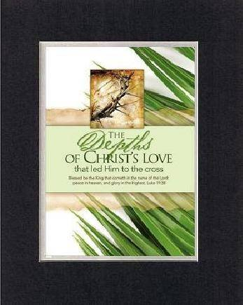 Palm Set Sunday (For Palm Sunday - Christian's Love 8 x 10 Inches Biblical/Religious Verses set in Double Beveled Matting - A Timeless and Priceless Poetry Keepsake Collection)