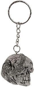 NATFUR Gothic Skull Skeleton Creative Purse Bag Keys Keyring Keychain Novelty Key Chain Elegant Pretty Cute Holder for Gift Beautiful Lovely | Design - One-Eyed Skull