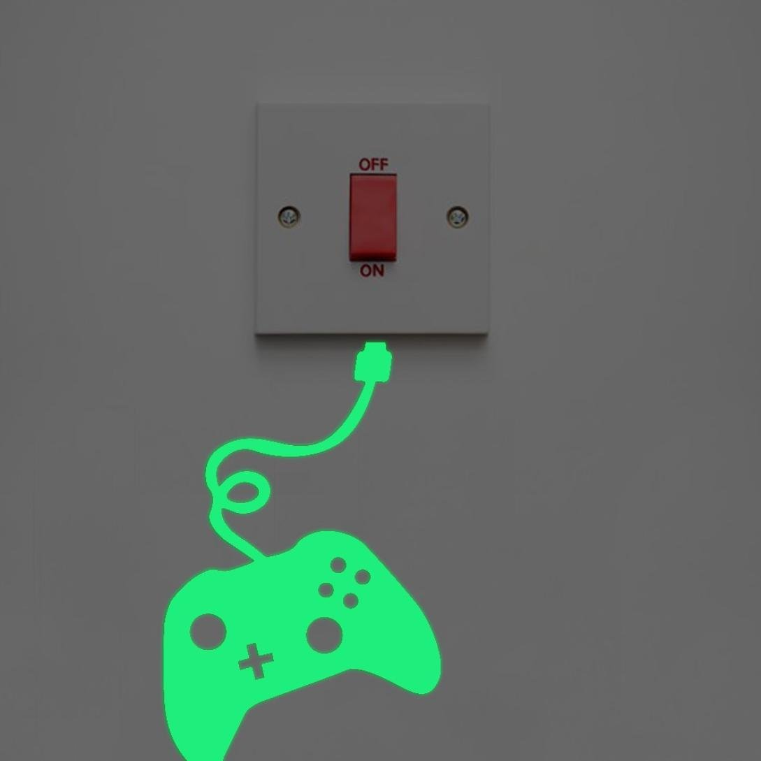 Gbell Glow in The Dark Light Switch Stickers for Bedroom Boys Girls,Night Luminous Wall Stickers- Kids Home Kitchen Bathroom,Decor,Green (A)