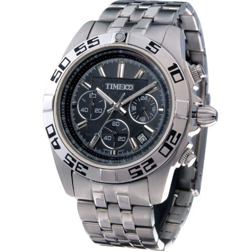 Time100 Men Sports Casual Stainless Steel Case&Band Quartz Movement Watch #W70002G.01A