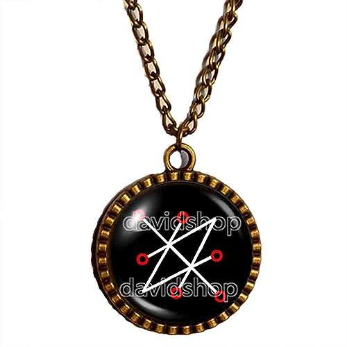 Amazon com: Azazel Sigil of Saturn Necklace Pendant Fashion