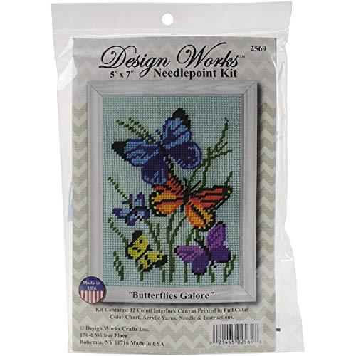 "Design Works Crafts 5"" x 7"" Needlepoint Kit Butterflies Galore"
