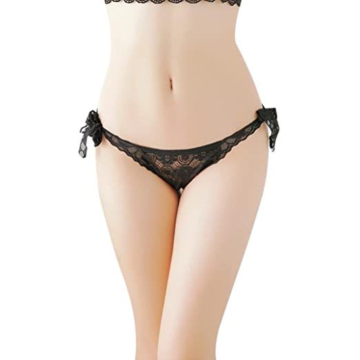 546819bac0d9 Joopee Super Sexy Lace Panties, Women Seamless Breathable Hollow Out Briefs  G-String Straps