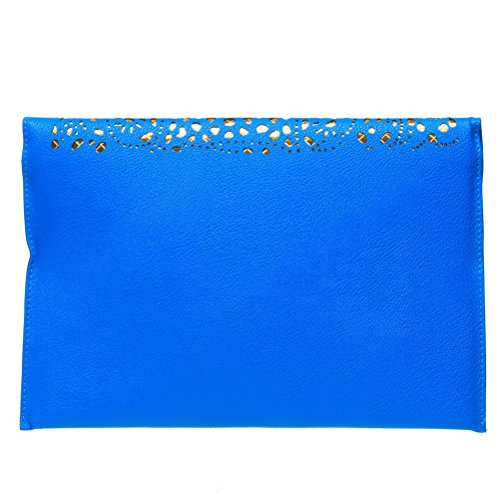 Handbag Purse Satin Cut Bag Party SUMAJU Evening Bag Watermelon Evening Womens Body Envelope Cross Out Blue Clutch dqTwIIv