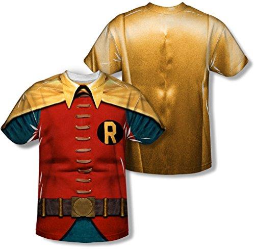 Youth: Batman Classic TV - Robin Costume (Front/Back Print) Kids T-Shirt Size YXL]()