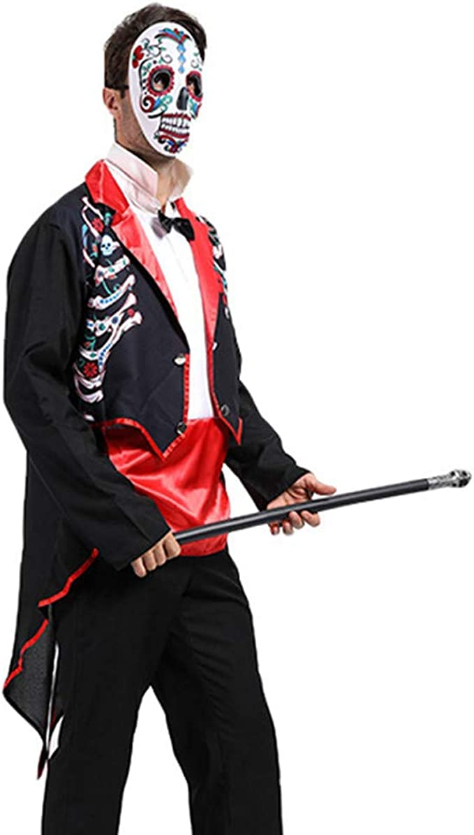 CLOOM 2PCs Halloween Cosplay Mago Disfraz Abrigo Largo Vintage ...