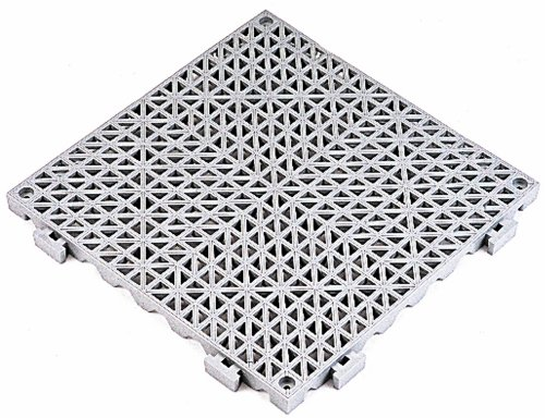 Durable Corporation 803S1212GY Modular Cushion Tile with Drainage Holes, 12