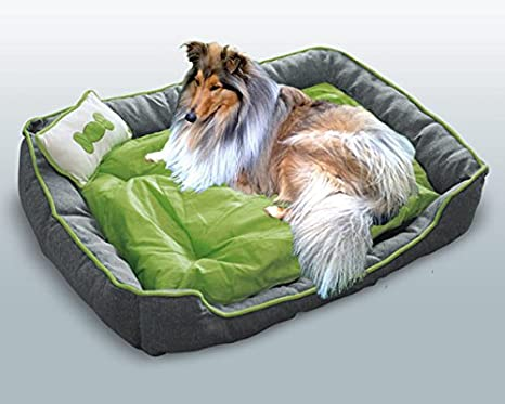 Cama para perros/Reversible cama/Dormir Espacio + cojín gris de verde xl: Amazon.es: Productos para mascotas