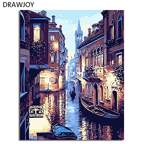 (Huanlovely Abstract Framed Oil Paint DIY Painting by Numbers Coloring by Numbers Colorful Animals Home Decoration 4050cm GX4228)