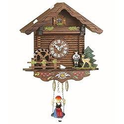 Trenkle Uhren Black Forest Clock Swiss House, turning water-wheel