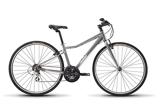 Diamondback Bicycles Clarity 1 Women's Fitness Hybrid Bike 18' Frame, Silver, 18'/Medium