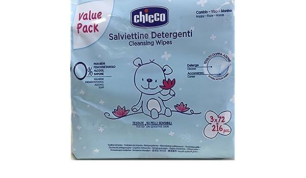 Chicco toallitas Salviettine 72 un. PACK 3UN.: Amazon.es: Salud y cuidado personal