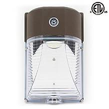 BWL 18W Led Wall Pack Light Photocell,5000K Daylight White, 2000Lumen, Life Span 50000H,Ip65 Waterproof Security Area Lighting,5 Years Warranty