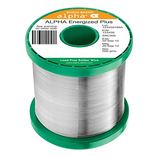 Energized Plus Rosin Core Solder Wire, P3, .032