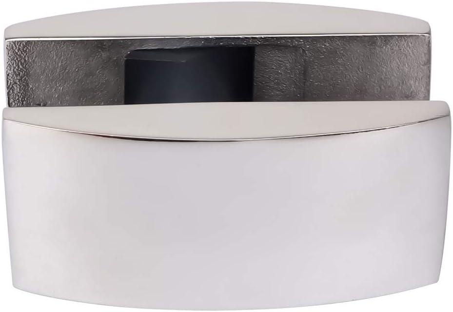 Edelstahl-Glasschiebet/ür-Werkzeug silberfarbener Boden-Clip f/ür Badezimmer Werkzeuge f/ür Schiebet/üren Waschraum,langlebiges Schiebet/ür-System Bodenschiebet/ür-Zubeh/ör Rutschige Bodenf/ührung