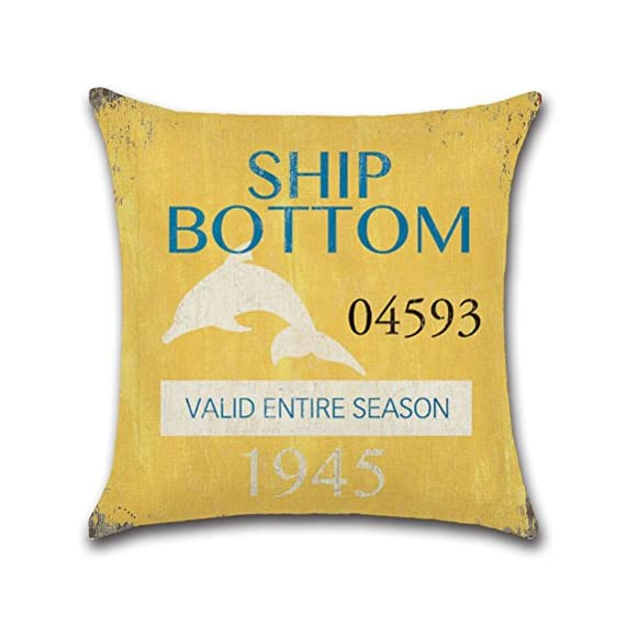 Vintage Series Throw Pillow Case U-Love Beach Cushion Cover for 18 X 18 Inch Nautical Pillow Inserts,4 Pack Coastal Pillow Covers - ✔Made of Durable and Environmentally Friendly Cotton Linen Materials.soft, fade-resistant and wrinkle-resistant;Keep your Square Throw Pillow clean and against scratch, finger marks. ✔Beach Pillow Cover,used for 18 x 18 Inches Pillow Inserts (pls note:Inserts are not included and the pattern paint one side only). ✔Easy to match your sofa, couch & other pillows.Soft and durable for both indoors (living room, office,bedroom, etc.) and outdoors (patio,car etc.). - patio, outdoor-throw-pillows, outdoor-decor - 51wqkds1cFL. SS570  -