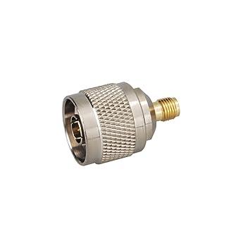 PC-Case 2pcs RF Cable eléctrico Terminal Conector Coaxial SMA-N adaptador hembra SMA goldplated a N macho recto para antena inalámbrica: Amazon.es: ...