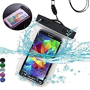 zxc PVC Underwater Waterproof Pouch Bag for Samsung Galaxy S6/S6 Edge(Assorted Color) , Transparent