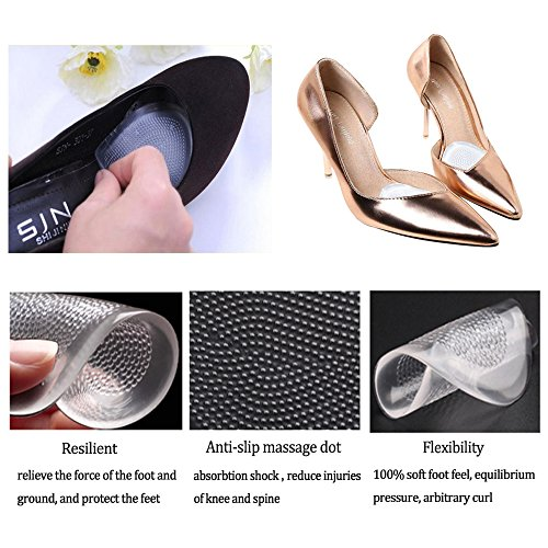 High Heel Pads-Gel Metatarsal Pads Ball of Foot Insoles Forefoot Pain Relief Pads for Women&Men -7Pack/14Pcs (White) by LAITU (Image #6)