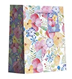 Jillson Roberts 6-Count Small 7.5'' x 6'' x 3'' All-Occasion/Wedding Gift Bags Available in 8 Designs, Watercolor Petal