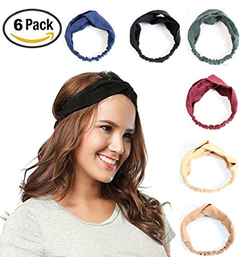 Women Headbands Turban Elastic Printed Head Wraps Stretchy Moisture Boho Floal Style Hair Bands Bows Accessories for Workout Yoga (Power Ballads Halloween)