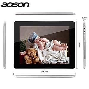 ARBUYSHOP Caliente-Venta de 9,7 pulgadas de pantalla 3G llamada de teléfono de la tableta Aoson M99G Quad Core Allwinner A31S cámaras duales 1GB + 8GB IPS Android 3G de la tableta, Standard