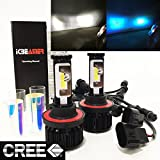 kit time ford explorer 2007 - (2 COLOR IN 1 SET) H13 9008 10000K Blue 6000K White (High/Low Beam) CREE COB LED Xenon Conversion Kit 8000 Lumen 80W USA