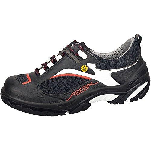 "Abeba 34512-48 talla 48 ""ESD-Crawler"" zapato seguridad bajo - negro/rojo"