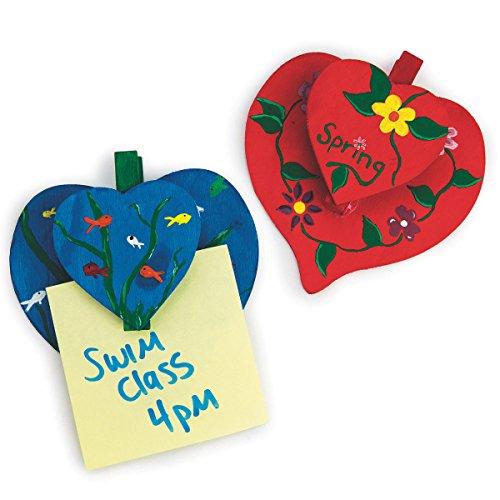 S&S Worldwide Heart-To-Heart Note Holders Craft Kit (makes 24) - Note Holders Craft Kit