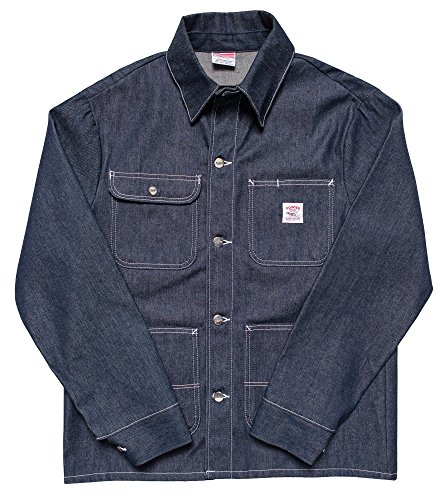 Pointer Brand Indigo Denim Chore Coat - Cone Raw M Blue by Pointer