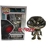 #248 // 34534 - B Target Exclusive Heroes Vinyl Figure /& 1 PET Plastic Graphical Protector Bundle Funko Black Manta : Aquaman x POP