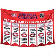 Montreal Canadiens /Canadiens de Montréal NHL 24 time Stanley Cup Champions Banner Championship Flag 3-Foot by