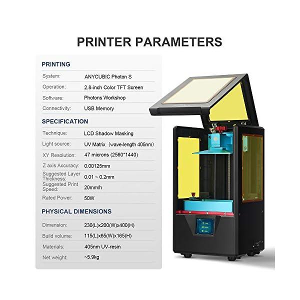 ANYCUBIC Photon S UV LCD 3D Printer Dual Z-axis Linear Rail