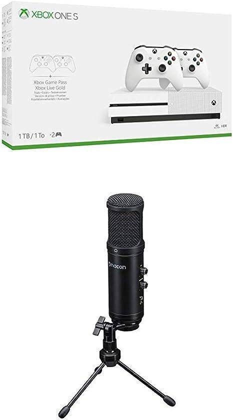 Xbox One S - Consola 1 TB, 2 Mandos y 3 MGP + Micrófono Profesional Nacon PCST-200MIC Pro-Gaming: Amazon.es: Videojuegos