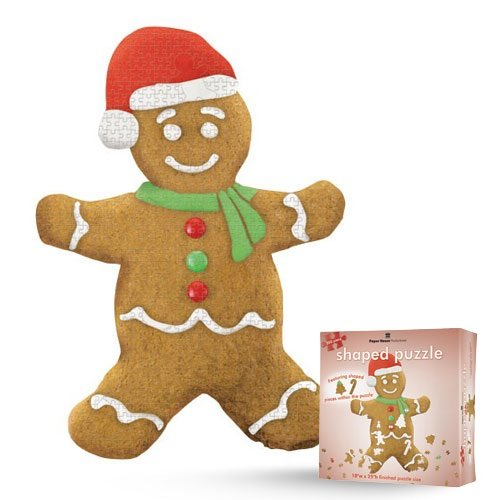 Jigsaw Shaped Puzzle 18 by 25-Inch, Gingerbread Man (500 Piece)
