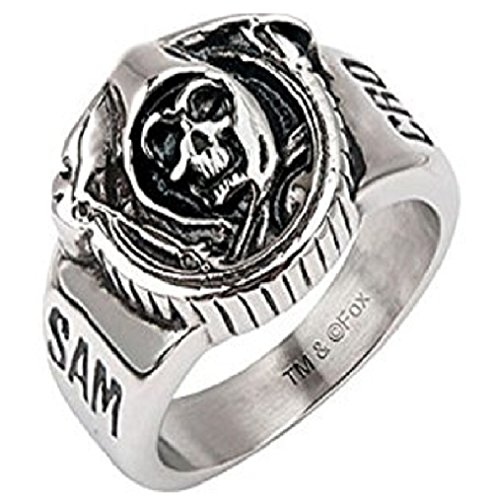 Sons of Anarchy Grim Reaper Skull Stainless Steel Ring (Rings Sons Of Anarchy)
