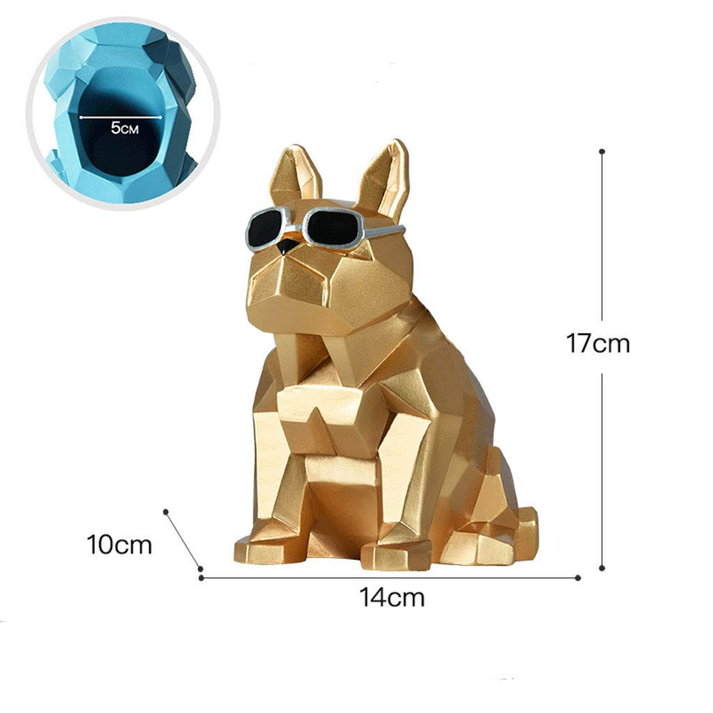 Pen Holder-Resin Cool Dog Pen Holder Home Living Room Study Desktop Decoration Ornaments for Home 171414 (Color : C)