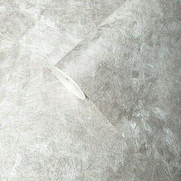 Embossed white violet pearl metallic Crushed metal textured Industrial Wallpaper