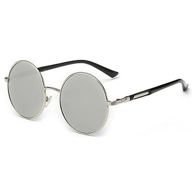 juqilu Gafas de sol circulares de lente redonda Gafas de sol ...