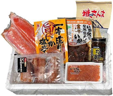 【北海道復興プロジェクトJ】腹袋 7点入 ますいくら ホッケ ヌカさんま 鮭半身 松前漬 いか塩辛 いか飯になれなかったいか 詰め合わせ おつまみセット 福袋
