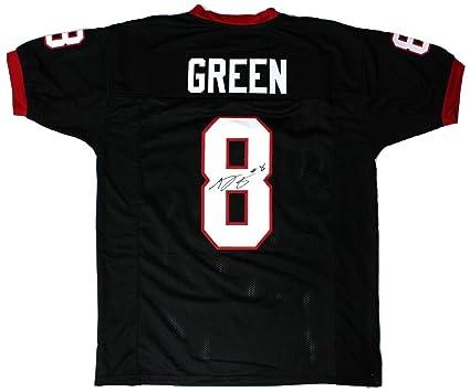 97a8e2ed2 Autographed A.J. Green Jersey - AJ NCAA Black Custom - Autographed College  Jerseys
