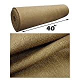 5 Yard Roll 10 Oz Burlap Premium Natural Vintage Jute Fabric 40 Inches Wide Upholstery (Mybecca Burlap)