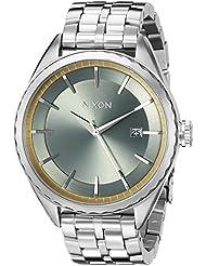 Nixon Womens A9342162 Minx Analog Display Swiss Quartz Silver Watch