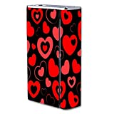 Decal Sticker Skin WRAP - Smok X Cube II 160W TC - Heart and Hearts Love Pattern Black Background